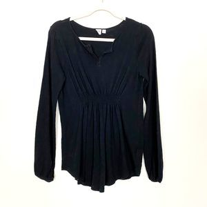 Gap Maternity Smocked Front Long Sleeve Tunic